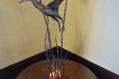artscapelighting-copper-art-Custom Pterodactyl table lamp